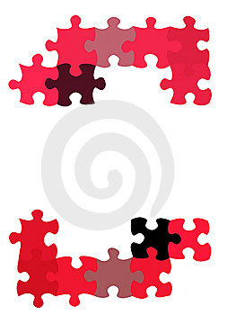 Puzzle Pieces Pattern Royalty Free Stock Images - Image: 8640619