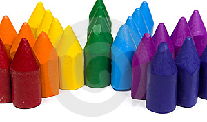 Close Up Of Wax Pencils Stock Photos - Image: 8640773