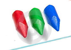 Three Children's Wax Pencils Stock Photography - Image: 8640782