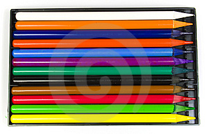 Twelve Multi-coloured Pencils Royalty Free Stock Image - Image: 8640866