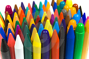 Children's Color Wax And Oil Pencils Stock Photography - Image: 8640882