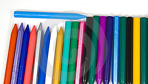 A Vertical Number Of Wax Pencils Stock Photos - Image: 8640953