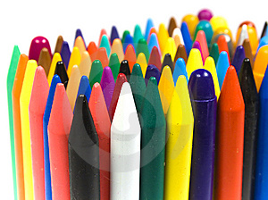 The Children's Color Wax And Oil Pencils Stock Photos - Image: 8641123