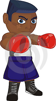 Boxer In Attack Royalty Free Stock Photo - Image: 8641125
