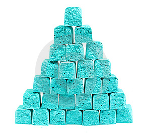 Pyramid From Slices Children's Chalk Stock Images - Image: 8641204