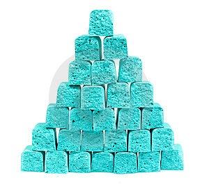 Pyramide De La Craie Des Enfants De Tranches Images stock - Image: 8641204