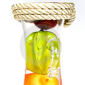 Glass Bottle With Handles Stock Photo - Image: 8641270