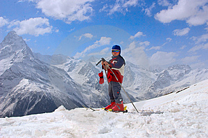 Baby Mountain-skier Stock Photo - Image: 8641410