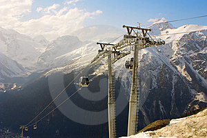 Rope-way Royalty Free Stock Image - Image: 8641476
