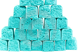 Pyramid From Slices Children's Chalk Stock Photos - Image: 8641503