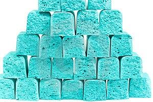 Pirámide De La Tiza De Los Niños De Las Rebanadas Fotos de archivo - Imagen: 8641503