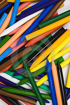 Close Up Small Heap Wax Crayons Royalty Free Stock Photo - Image: 8641565