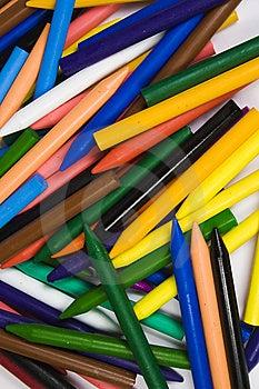 Close Up Small Heap Wax Crayons Royalty Free Stock Photo - Image: 8641565
