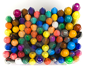 Set Of Wax And Oil Pencils Stock Photo - Image: 8641610