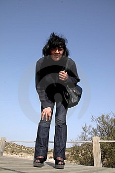 Woman Looking, Be Watching For Something. Stock Image - Image: 8641631
