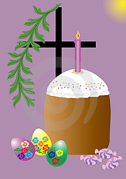 Easter Cake With Easter Eggs Royalty Free Stock Photos - Image: 8641648