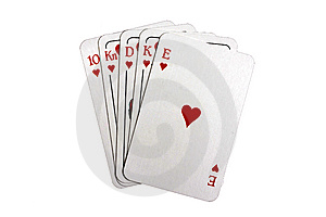 Royal Flush Royalty Free Stock Photo - Image: 8641695