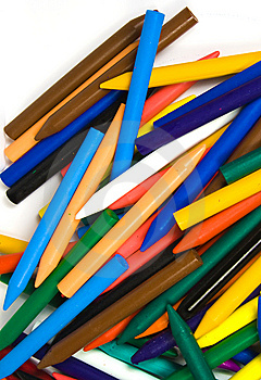 Close Up Of Wax Pencils Royalty Free Stock Photo - Image: 8641835
