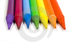 Pencils Of Seven Colors Stock Photos - Image: 8641873