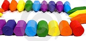 Close Up A Rectangular Double Rainbow Stock Photography - Image: 8641962
