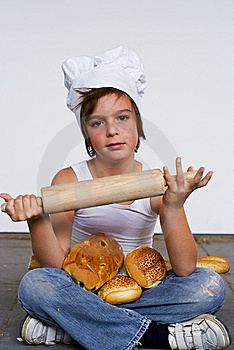 Young Baker Boy And Bread Royalty Free Stock Photos - Image: 8641978