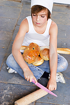 Young Baker Boy And Bread Stock Photography - Image: 8642052