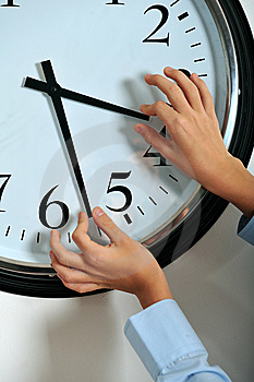 Manipulating Time Royalty Free Stock Image - Image: 8642076