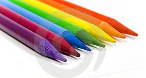 Rainbow From Color Pencils Stock Image - Image: 8642141