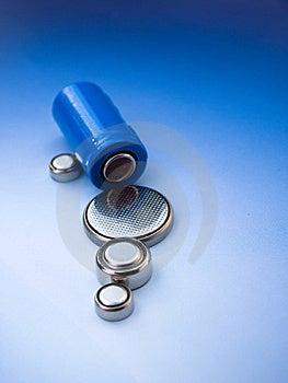 Batteries, Closeup Royalty Free Stock Photo - Image: 8642165