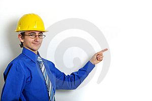 Engineer Pointing Stock Photography - Image: 8642242