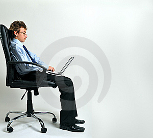 Businessman Using Laptop Royalty Free Stock Photography - Image: 8642257