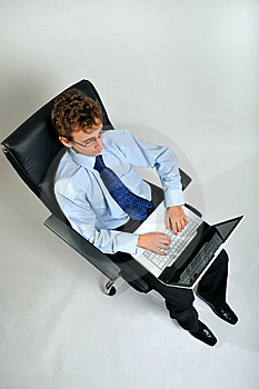 Businessman Using Laptop Stock Images - Image: 8642264