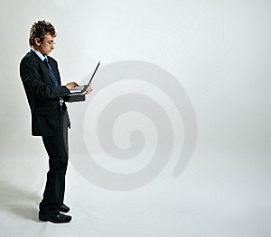 Businessman Using Laptop Stock Images - Image: 8642274