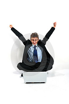 Businessman Cheering Stock Photos - Image: 8642293