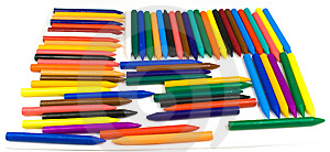 Many Wax Pencils Royalty Free Stock Images - Image: 8642359