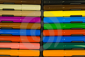 Multi-colour Set Of Felt-tip Pens Royalty Free Stock Photos - Image: 8642388