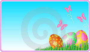 Easter Eggs Ecard Stock Images - Image: 8642464
