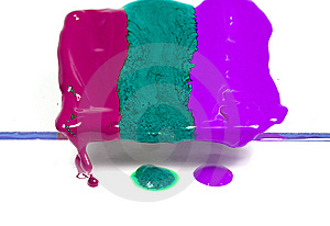 Dripping Wax Of Three Colours Royalty Free Stock Image - Image: 8642626