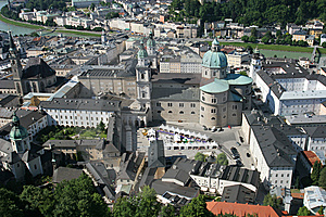 Historical Center Of Salzburg Stock Photo - Image: 8642710