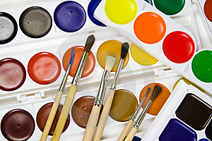 Set Of Brushes On A Background Stock Images - Image: 8642734