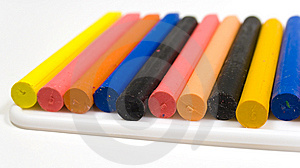A Rough Number Of Wax Pencils Royalty Free Stock Photos - Image: 8642748