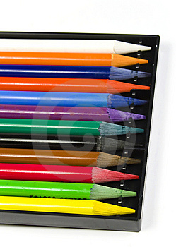 Set Of Color Woodless Pencils Royalty Free Stock Photography - Image: 8642927