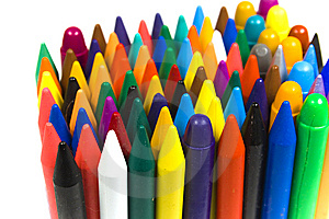 The Children's Color Wax And Oil Pencils Stock Photos - Image: 8642943