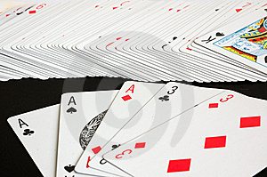 Playing Cards - Ace Full House Stock Photos - Image: 8642953