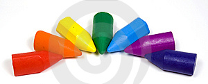 Rainbow From Wax Crayons Royalty Free Stock Image - Image: 8642956
