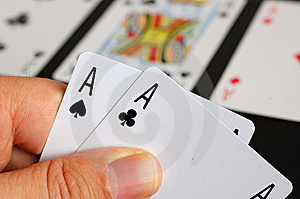 Poker - Pocket Aces Stock Photo - Image: 8642960