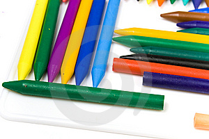 Wax Pencils Close Up Stock Image - Image: 8643041
