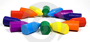 Rainbow From Wax Crayons Royalty Free Stock Photos - Image: 8643108