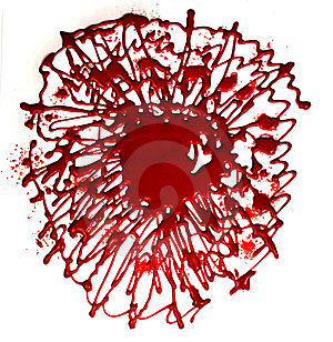 Bright Abstract Spot Of Darkly Red Paint Stock Photos - Image: 8643113