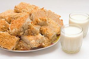 Pie And Milk Royalty Free Stock Photo - Image: 8643205